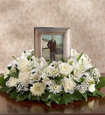 All White Urn or Picture Wreath