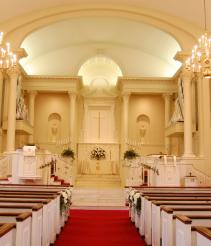 All White Wedding Site Church  site