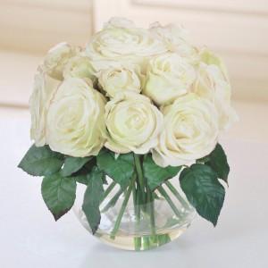 PEACEFUL White Rose Bowl