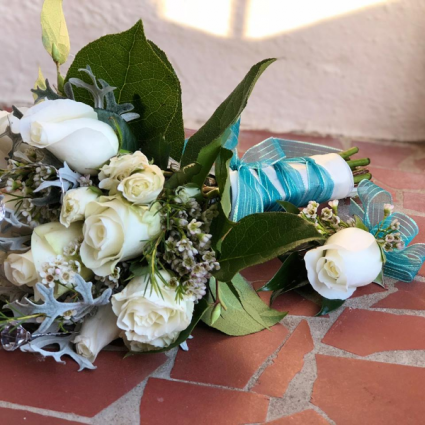 All White with a Touch of Color Hand Bouquet