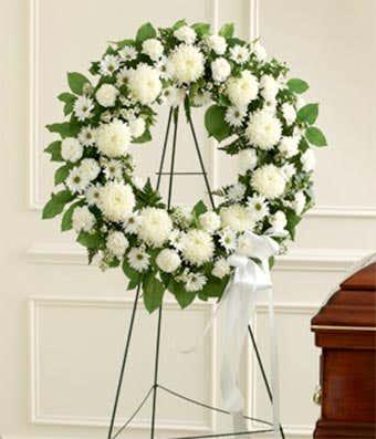 All White Wreath