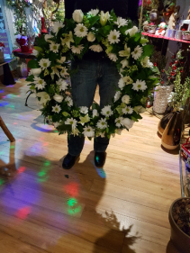 ALL WHITE WREATH Funeral flowers
