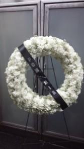 Carnation Wreath Spray  $225.95, $250.95