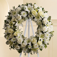 All white wreath wreath