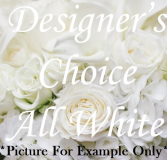 All White Wrist Corsage & Free Boutonniere Corsage & Bout