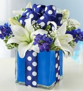 All Wrapped Up - Blue Cube Arrangement