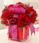 All Wrapped Up - Red Cube Arrangement