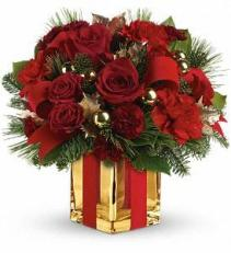 All Wrapped Up Bouquet Christmas Arrangement