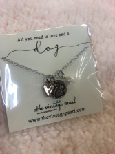 All you need is love and a dog necklace