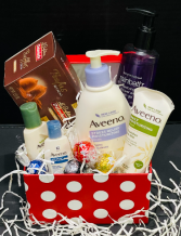 All you need is love...and lotion spa basket, gift basket