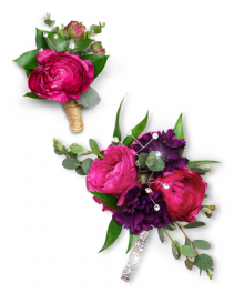Allure Corsage and Boutonniere Set Corsage/Boutonniere