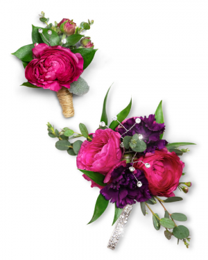 Allure Corsage and Boutonniere Set Corsage/Boutonniere in Nevada, IA | Flower Bed