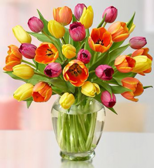 Alluring Tulips Floral Arrangement in Lexington, NC | RAE'S NORTH POINT FLORIST INC.