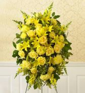 all-yellow sympathy standing spray