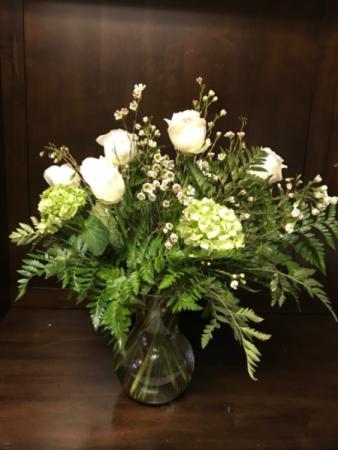Almond Splendor Sympathy Flowers