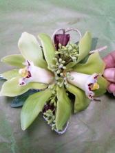 aloha cymbidium corsage