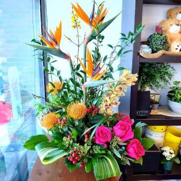 Aloha! Exotic Tropicals tropical arrangement