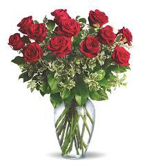 12 RED ROSE VASE