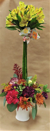Alstroemeria Topiary Fresh Flower Arrangement