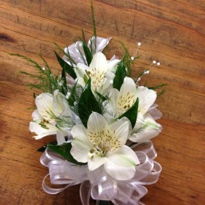Alstroemeria Wrist Corsage in Elyria, OH | PUFFER'S FLORAL SHOPPE, INC.