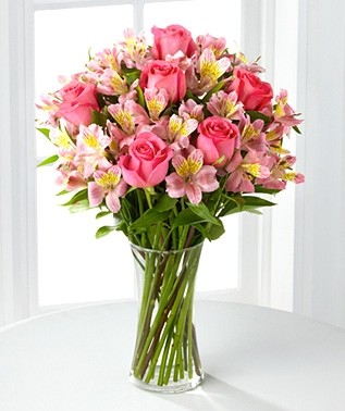 Lilies and Roses Bouquet Alstromeria Lilies and Roses
