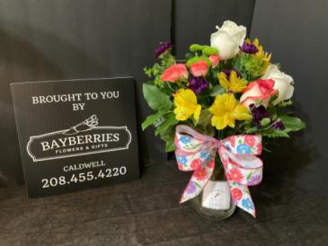 Alstros & Roses Birthday Arrangement