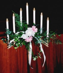 Altar Candle Arrangement Wedding