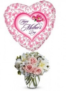 Mother's Day Bundle Bouquet and Mylar Balloon