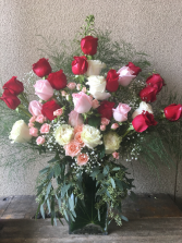 Enduring Love Tall, with Big 70-CM Red Roses