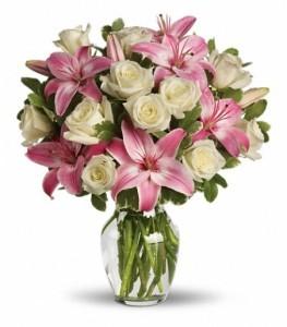 Always A Lady Bouquet Vase Arrangement
