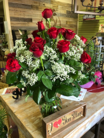 ALWAYS AND FOREVER 18 LONG STEM ROSES