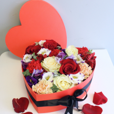 Always and Forever Pavé Heart Box  BOX COLOR SUBJECT TO AVAILABILITY/LOCAL DELIVERY ONLY