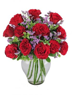 Always and Forever Garden Roses Bouquet in Worthington, OH | UP-TOWNE FLOWERS & GIFT SHOPPE