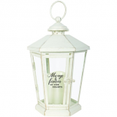 Always & Forever in our hearts Antique lighted White lantern
