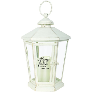 Always & Forever in our hearts Antique lighted White lantern in Plum, PA | FOREVER GREENE FLOWERS INC.