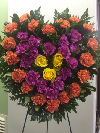 Always in my Heart Standing Floral Tribute