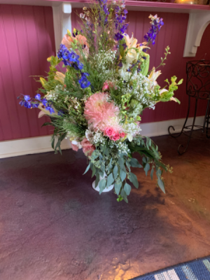 Always In Our Heart Stand Alone Arrangement Or To Accompany Table Wreath in Syracuse, IN   Dynamic Floral