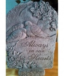 "Always in Our Hearts 15.5"" x 11.5"" Memorial Stone"
