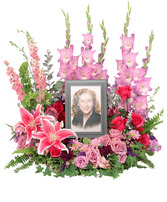 Always In Our Hearts Memorial Flowers (frame not included)
