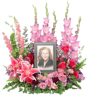 Always In Our Hearts Memorial Flowers (frame not included) in Mobile, AL | ZIMLICH THE FLORIST