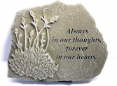 ALWAYS IN OUR THOUGHTS MEMORIAL STONE