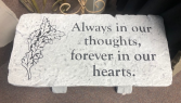ALWAYS IN OUR THOUGHTS MEMORIAL STONE BENCH