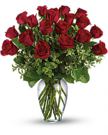Always on My Mind-18 Long Stemmed Red Roses