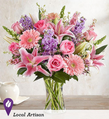 Always on My Mind Mixed vase arrangement