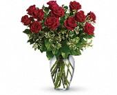 Always On My Mind Red Roses Vased in Pigeon, MI | HAIST FLOWERS & GIFTS