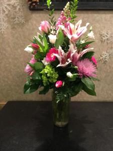 Always Pink Vase Arrangement