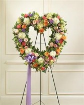 Always Remember Floral Heart Tribute - Pastel Funeral