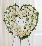 Always Remember™ Floral Heart Tribute - White  Funeral / Sympathy