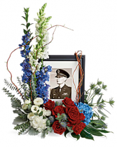 Always With Us Photo Tribute Bouquet Urn
