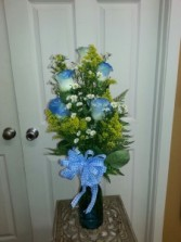 Am I Blue For you ? Rose Vase